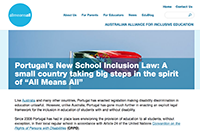 "Portugal's New School Inclusion Law: A small country taking big steps in the spirit of ""All Means All"""