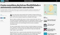 Costa considera decisivas flexibilidade e autonomia curricular nas escolas