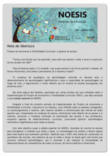 NOESIS 21 - Projeto de Autonomia e Flexibilidade Curricular: a palavra às escolas