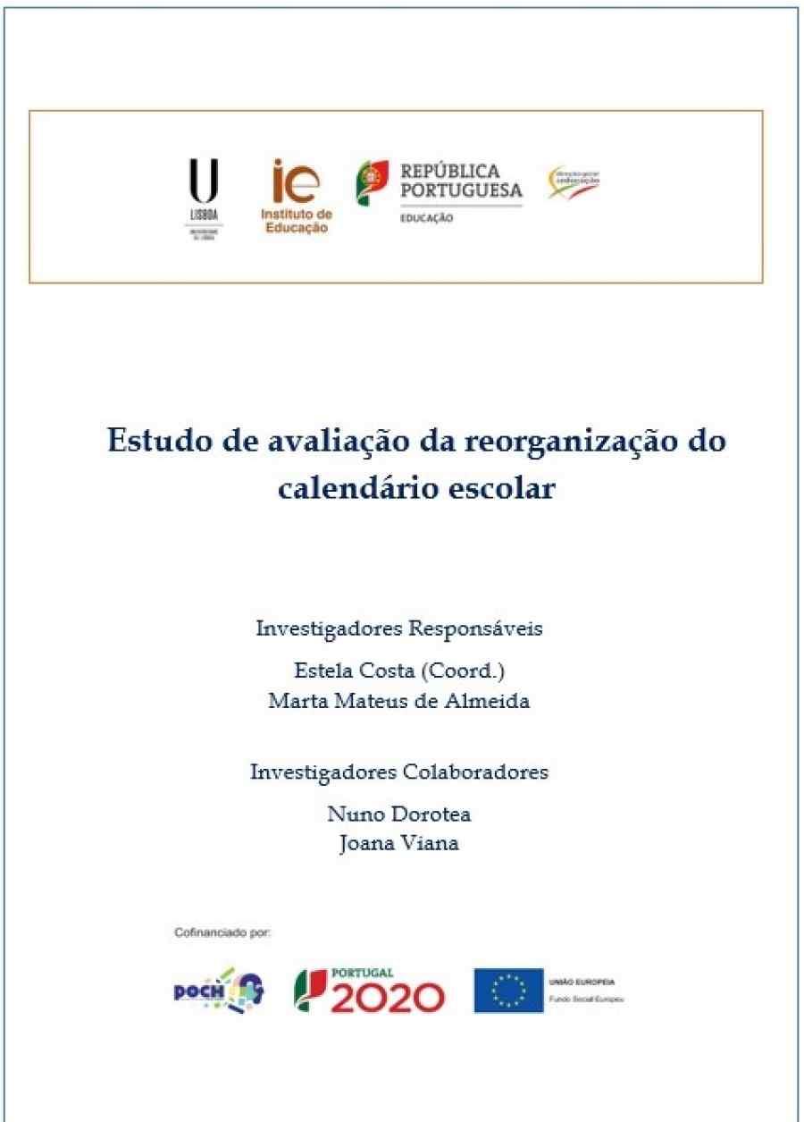 Relatório de Avaliação da Reorganização do Calendário Escolar