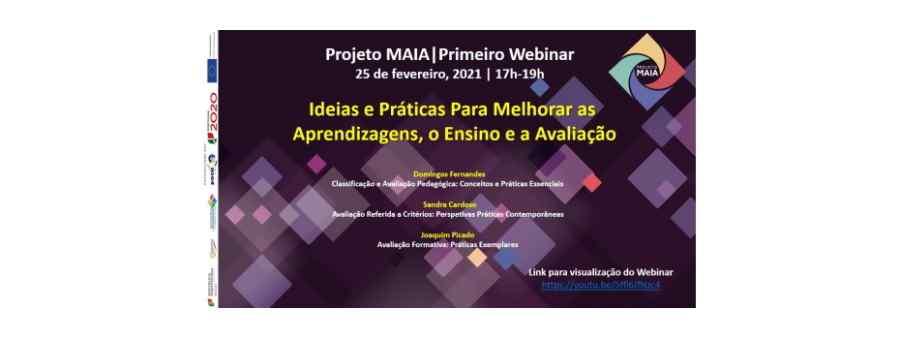 Projeto MAIA - Primeiro Webinar