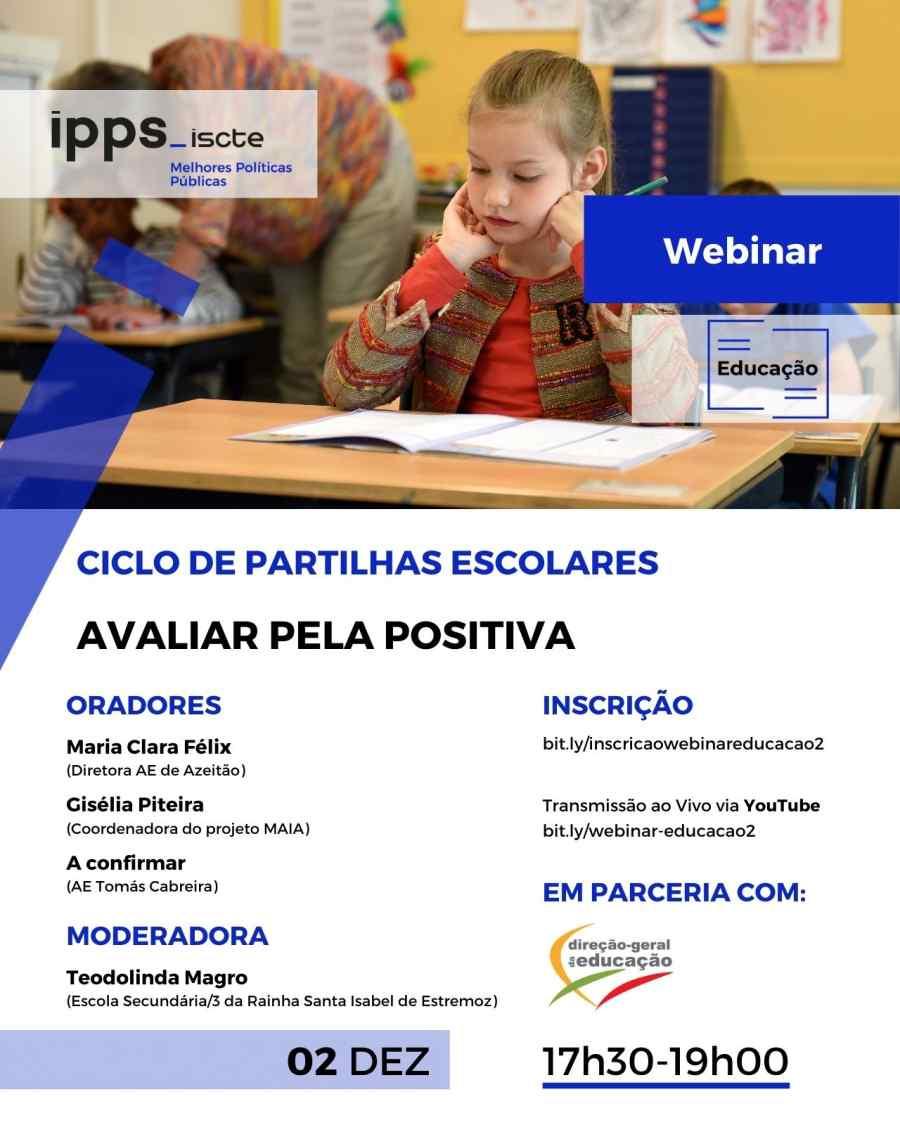 Ciclo de Partilhas Escolares | Webinar Avaliar pela Positiva